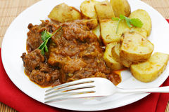 Beef and potato curries Royalty Free Stock Images
