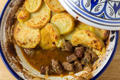 Beef and potato tagine Stock Images