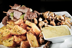 Beef and potatoes Royalty Free Stock Photography