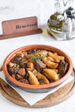 Beef and potatoes in sauce Stock Photography