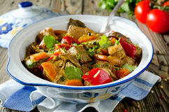 Beef ragout with vegetables Royalty Free Stock Photos