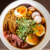 Beef Ramen closeup Royalty Free Stock Photography