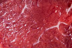 Beef raw red meat closeup texture background. Fresh beef piece in closeup. Marbled meat texture. Raw fillet of beef steak. Beef raw red meat closeup texture royalty free stock photos
