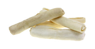 Beef Rawhide Rolls For Dogs Royalty Free Stock Photography