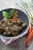 Beef Rendang, Indonesian food. Stock Image