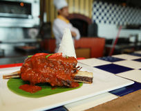 Beef rib asian food Stock Photos