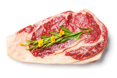 Beef rib eye steak Royalty Free Stock Photos