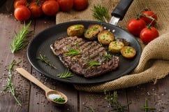 Beef rib eye steak Royalty Free Stock Images
