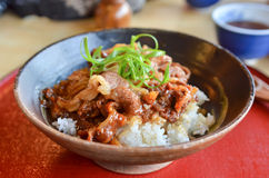Beef and rice Stock Image