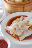 Beef rice roll dim sum Royalty Free Stock Photos