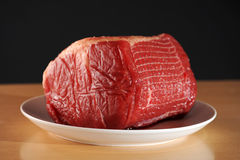 Beef Roast. Raw Beef brisket, also known as corned beef stock images