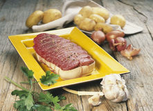 Beef roast before cooking Royalty Free Stock Images