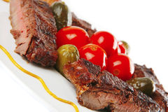 Beef roasted with tomatoes Royalty Free Stock Photography