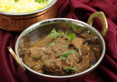 Beef rogan josh in a a balti dish Stock Photos