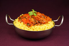 Beef Rogan Josh balti dish Royalty Free Stock Image