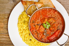 Beef Rogan Josh balti dish Royalty Free Stock Images