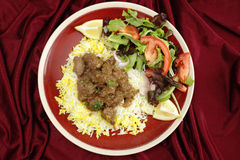 Beef rogan josh meal from above Stock Photo
