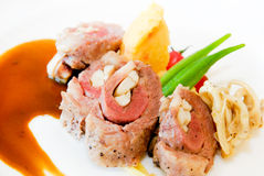 Beef roll stuffed Royalty Free Stock Image