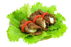 Beef-rolls Stock Photography