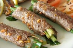 Beef rolls Stock Photo