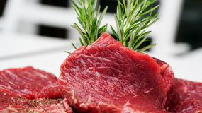 Beef with rosemary Royalty Free Stock Photo