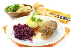 Beef roulade Stock Image