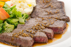 Beef Round Steak Royalty Free Stock Images