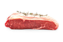 Beef rumpsteak with thyme twig Stock Photos