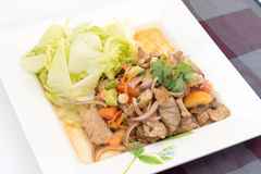 Beef Salad with juicy dressing, thai call Stock Photo