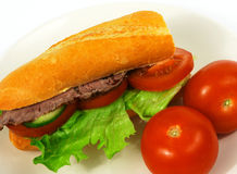 Beef salad roll 1 Stock Photography