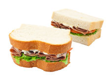 Beef salad sandwich sliced bread Royalty Free Stock Photos