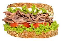 Beef And Salad Sandwich Royalty Free Stock Images