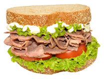 Beef And Salad Sandwich Royalty Free Stock Photo