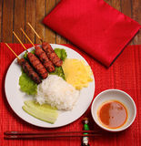 Beef salad Vietnam style Royalty Free Stock Images