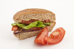 Beef and Salad Yummy Sandwich Royalty Free Stock Photos