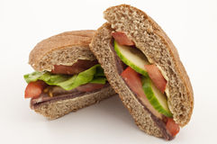 Beef and Salad Yummy Sandwich Royalty Free Stock Images