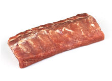 Beef salmon. On a white background Stock Photography