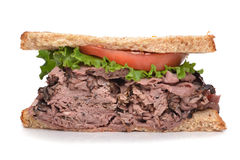 Beef Sandwich Royalty Free Stock Photography