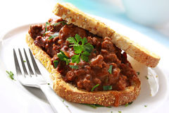 Beef Sandwich Royalty Free Stock Photos