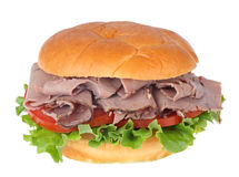 Beef Sandwich Isolated Stock Images