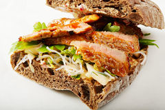 Beef sandwich with kimchi Royalty Free Stock Image