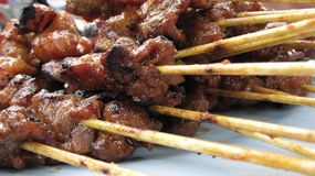 Beef Satay Royalty Free Stock Image