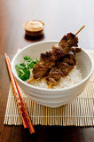 Beef Satay Royalty Free Stock Photography