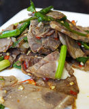 Beef  in sauce. Chinese  cuisine,beef  in sauce Stock Photography