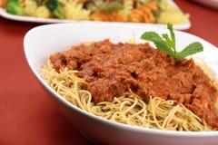 Beef sauce pasta Stock Photo