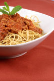 Beef sauce pasta Royalty Free Stock Photography