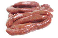 Beef sausages Stock Photography