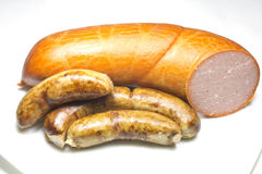 Beef sausages Royalty Free Stock Photo