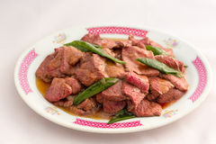 Beef and Scallion Stir-Fry Royalty Free Stock Photography