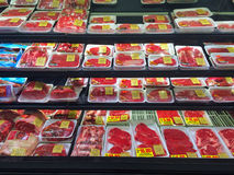 Beef Selection Fred Meyer Springfield, OR Royalty Free Stock Photography